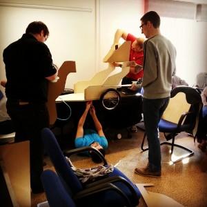Team Building_Soap Box Derby_Mechanic Pose